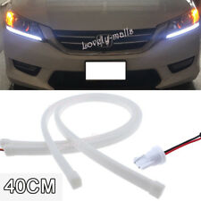 40cm 6000K White LED DRL Strip Lights Headlight Retrofit For 13-15 Honda Accord