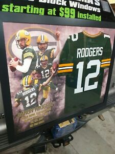 Custom made frame green bay packers Aaron Rodgers Jersey brand new (rare)