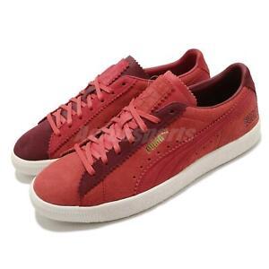 Puma Suede VTG Michael Lau Poppy Red Plum Gold Men Women Unisex Shoes 380820-01