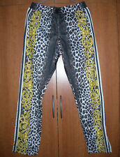 ADIDAS Jeremy Scott JS Leopard TP Track Pant Pantaloni Taglia M W61528 Nota Musicale Oro