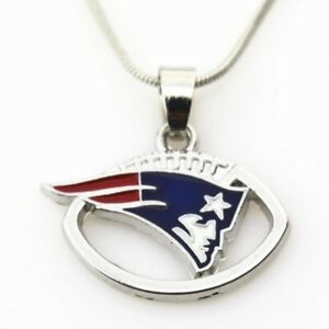 """NEW ENGLAND PATRIOTS 24"""" STAINLESS STEEL CHAIN NECKLACE  NFL FOOTBALL FREE SHIP'"""