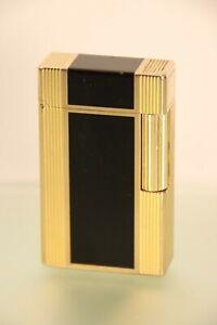 Luxus Feuerzeug Dupont Herren Laque de Chine Schwarz Goldfarben