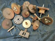 Lot of 14 Wooden Clock Gears