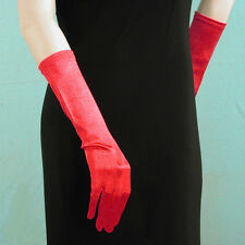 """Below the Elbow Gloves 15"""" Long Satin Stretch for Evening, Bridal, Prom - G170"""