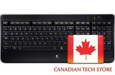 Logitech K800 Wireless Illuminated Keyboard (English)- 920-002359 Black & Silver