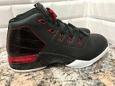 Nike Air Jordan Retro 17 Black Gym Red Men SZ 9 832816-001 Chicago Bulls Bred QS