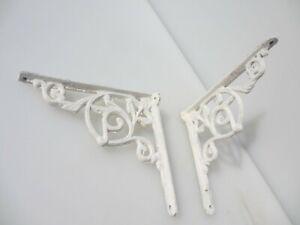 "Iron Cistern Shelf Brackets Holders Shelve Old Rococo Nouveau Antique STYLE  7""D"