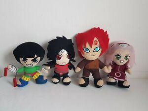 NARUTO Gaara Madara Uchiha Rock Lee Sakura Haruno Clan Plushies X4
