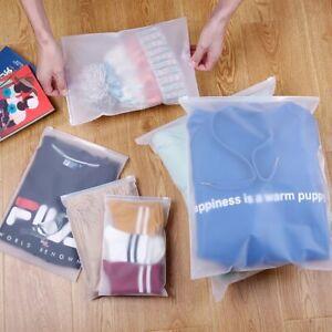 Travel Clothes Bag Seal Storage Waterproof Makeup Zip lock Pouch (XL, L & M)