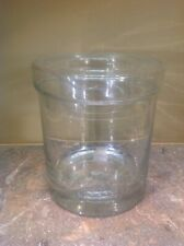 Vtg  Unique Rare Cut Glass Round Vase With Glass Display Ring Top
