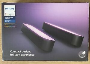 Philips Hue Play White and Colour Smart Light Bars 2 x Lighting Black New Sealed