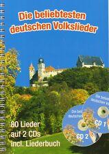 Die beliebtesten deutschen Volkslieder Gesang Gitarre Keyboard Noten m. 2 CDs A5