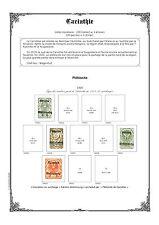 PAGES D´ALBUM - AUTRICHE HONGRIE + CARINTHIE - AUSTRIA HUNGARY 1915-->1920