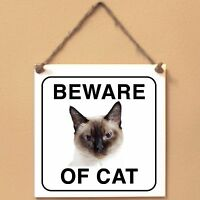 Thai cat Beware of cat Targa gatto cartello ceramic tiles