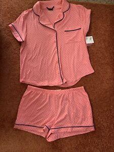 kate spade ladies 2 piece Polka Dot pajama set size large