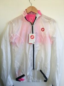 Castelli Womens Small Donna Velo Jacket White Cycling Bike Lightweight Windproof
