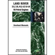 Land Rover 3.5, 3.9, 4.0, 4.2 & 4.6 V8 Petrol Engine Overhaul Manuals book paper