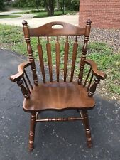 Tell City Chair Company Solid Hard Rock Maple Rumford Arm Chair