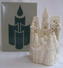 PartyLite White Porcelain Christmas Village Carolers Tealiight Candle Holder New