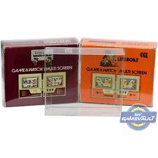10 x Game & Watch Box Protectors Square Multi Screen 0.5mm Plastic Display Case