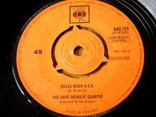 "El cuarteto de Dave Brubeck-Bossa Nova U.s.a. 7"" Vinilo"