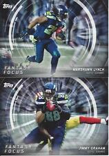 2015 Topps Fantasy Focus Jimmy Graham Marshawn Lynch Seattle Seahawks