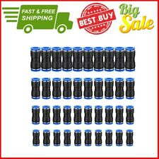 40 Pcs Straight Connectors Puch Connect Fittings Air Line Quick 1/4, 5/16, 3/8