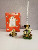 Vintage Disney Enesco In The Good Old Summertime Fishing & Cat Mickey Figurine