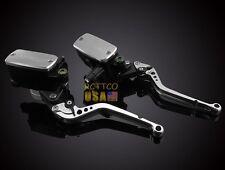Silver Clutch BrakeLevers Master Cylinder Reservoir For Honda CBR 1000RR 04-2007