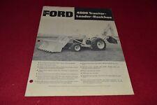 Ford Tractor 4500 Backhoe Dealer's Brochure YABE15
