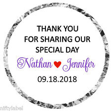 108 HERSHEY KISS GLOSSY STICKER LABELS  - THANK YOU FOR SHARING OUR SPECIAL DAY