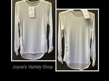 All Sports Couture Sheer Top Swim Cover Blouse White Many Sizes