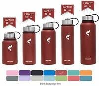 Stainless Steel Insulated Water Bottle Wide Mouth Leak Proof Vacuum Mug 20oz