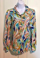 Missoni For Target Women's Size Medium Colorful Long Sleeve Button Down Blouse