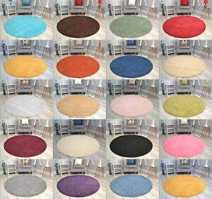 Circular Circle Shaggy Rugs Non Slip Washable Floor Small Large Round Mats Cheap