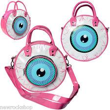 Nuevo Kreepsville 666 globo ocular Bolsa De Color Rosa Bolsa De Hombro Mano De Moda De Terror