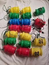 Blow Mold Lights Oriental Lanterns Party Rv Deck String Camping Tiki 2 sets 18