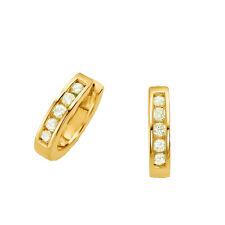 1 Paar Mädchen Wende- Creolen Ohrringe mit Zirkonia Echt Silber 925 vergoldet