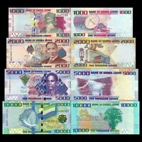 SIERRA LEONE FULL SET 4 PCS 1000 2000 5000 10000 LEONES 2010-2015 P30 to P33 UNC
