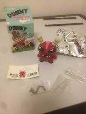 "Signed 3"" JLED Joe Ledbetter Demon Devil Endangered DUNNY KIDROBOT Red Version"