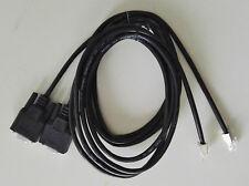 2 PCS DB9F to RJ11  6P Shield Black, 6,6, ft - 2 mt - cable