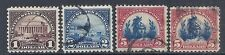 1923 US Lot of 4, 571 572 573 573a - Used - Lincoln Memorial, Capitol, Freedom*
