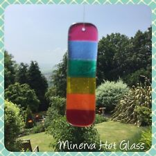 Fused Glass Rainbow Sun Catcher, Gay Pride, LGBT, Pride, Minerva Hot Glass