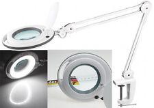 Kaltlicht LED Lupenleuchte mit Tischklemme - 125 mm Linse 3 Dioptrien Lupenlampe