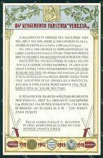 Militari Reggimentali 84º Reggimento Fanteria Venezia cartolina XF5557
