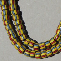18 inch 46cm strand old antique venetian 2 layer fancy beads african trade #1783
