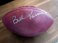 BILL PARCELLS SB GIANTS JETS HOF NE SIGNED AUTO NFL DUKE FOOTBALL JSA HOLD AIR !