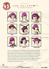 Hut 9 Tragearten Lila ✿ SUSHEHAT ✿ 100% Reine Wolle Cabrio Hat Chapeau Handmade