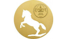 2014 Mongolia Large Guilded Silver Cutout 500 T Horse