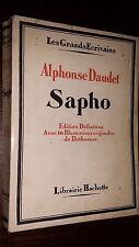 SAPHO - Alphonse Daudet 1929 - Ill. Dethomas
